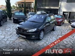 Peugeot 206 SW 1.6 HDi Jantes/Pele/AC 76€ mês