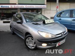 Peugeot 206 Diesel 1.4 HDi *SÓ 124€/MÊS SEM ENTRADA INICIAL* A/C 5 Lugares 3/2006 I.U.C./Selo Antigo Baixo Consumo