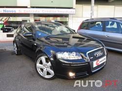 Audi A3 1.6 FSi S-LINE ***VENDIDO*** *SÓ 173€/MÊS FIXOS* 115cv 6Vel. Só 68.000KM Nacional Único Dono 7/2005 (I.U.C./Selo Antigo)